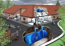 Commercial rainwater harvesting demo video